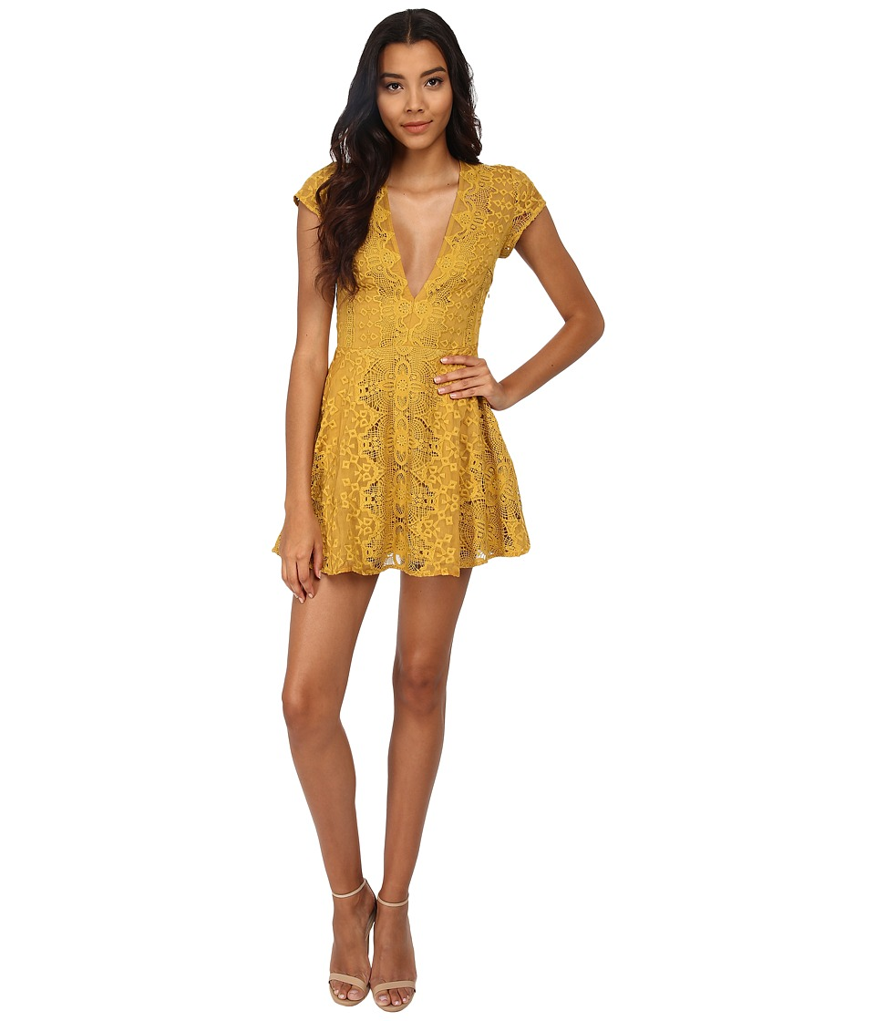 For Love and Lemons - Sienna Mini Dress (Golden Rod) Women's Dress