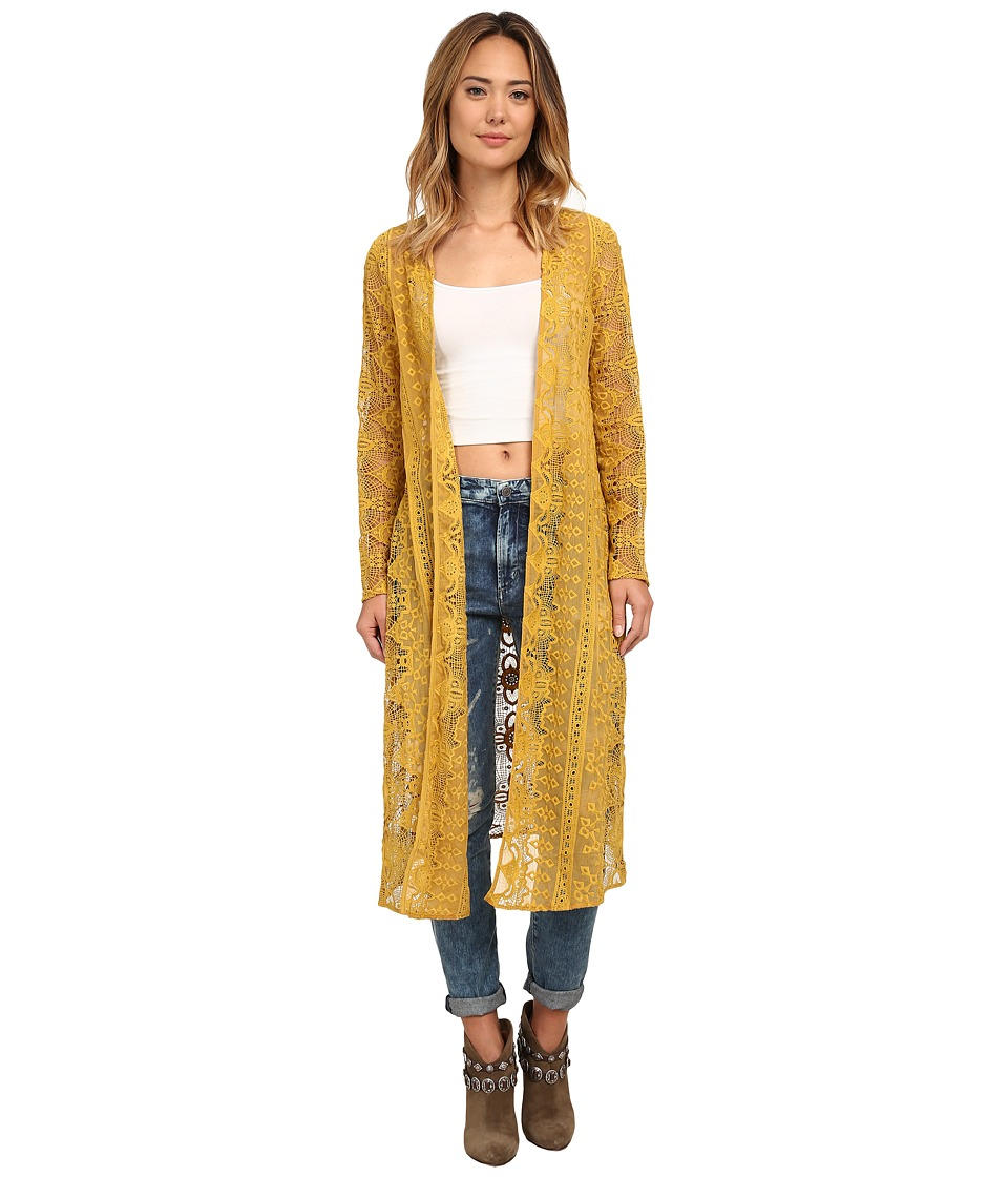 For Love and Lemons - Sienna Kimono (Golden Rod) Women's Blouse