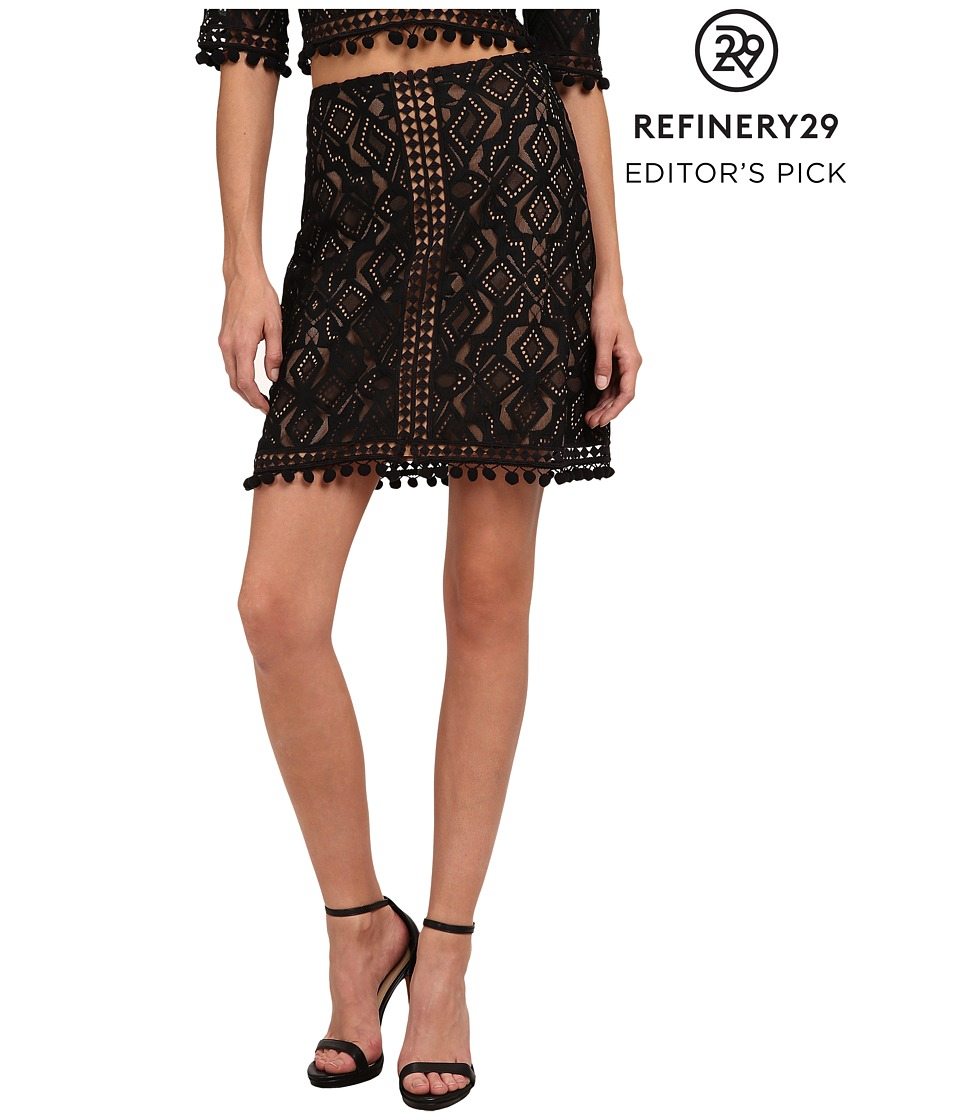 For Love and Lemons - Florence Mini Skirt (Black) Women's Skirt