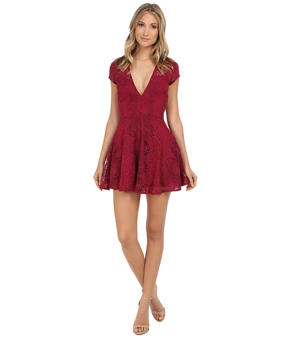 For Love and Lemons - Sienna Mini Dress (Scarlet) Women's Dress
