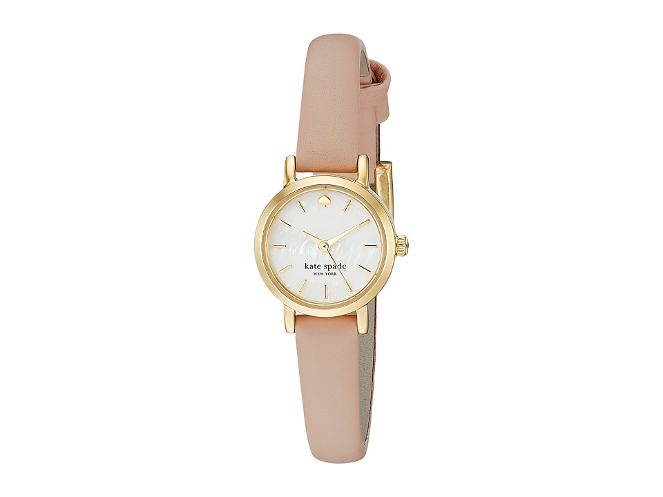 Kate Spade New York - Tiny Metro - 1YRU0372 (Gold/Vachetta 1) Analog Watches