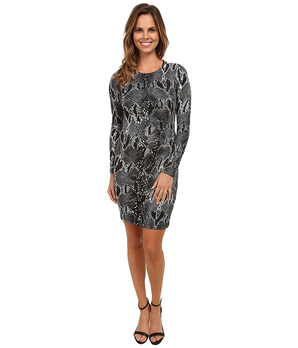 Karen Kane Snake Print Sheath Dress (Dark Gray) Women's Dress