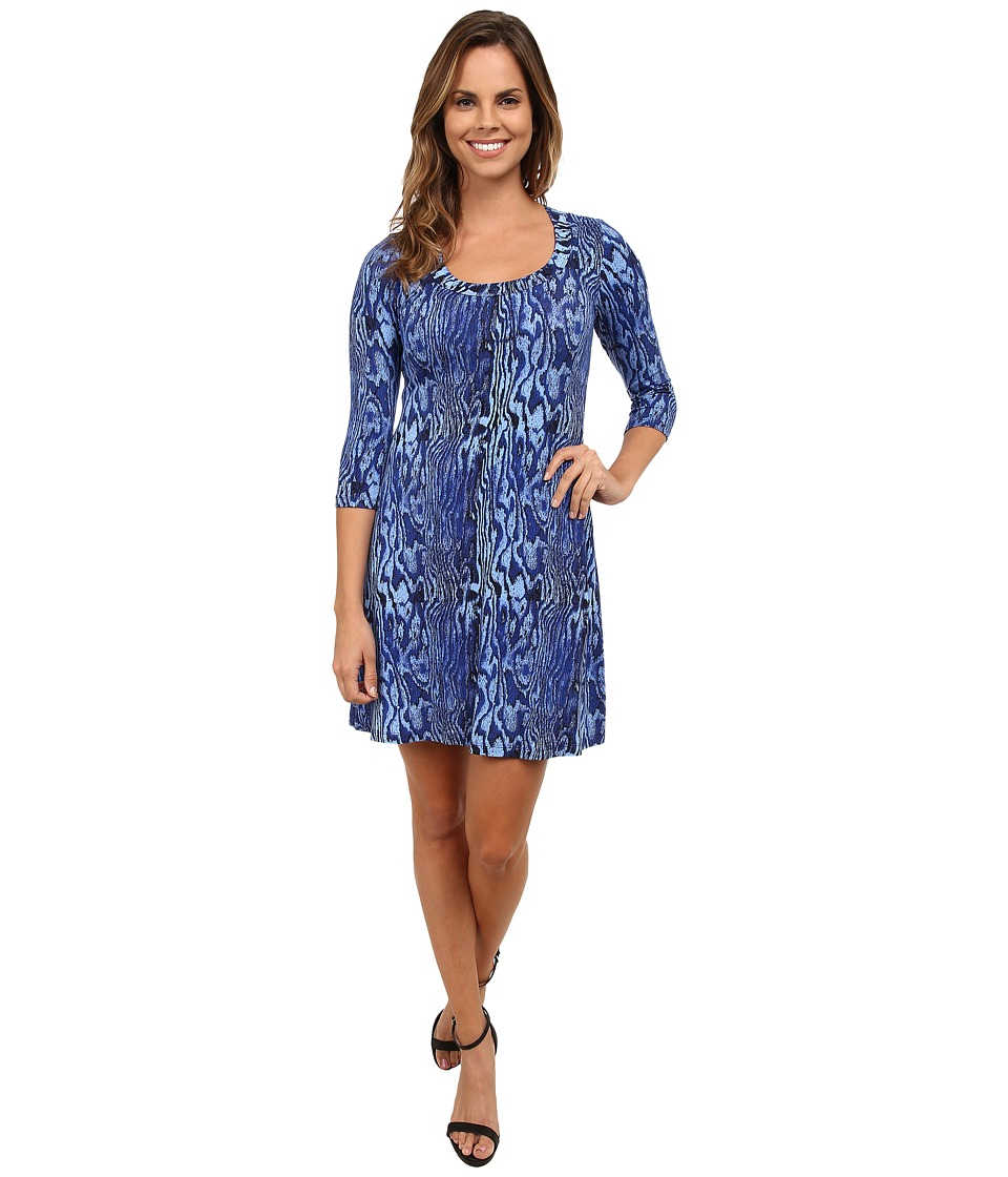 Karen Kane - 3/4 Sleeve A-Line Dress (Print 1) Women's Dress