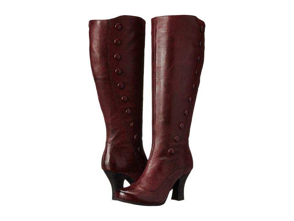 Miz Mooz - Krista (Wine) Women's Zip Boots