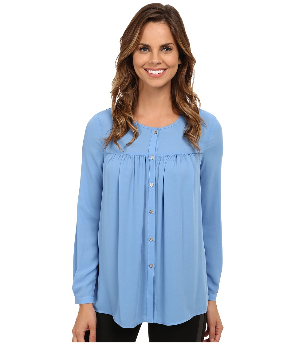 Karen Kane - Button Up Blouse (Sky) Women's Blouse
