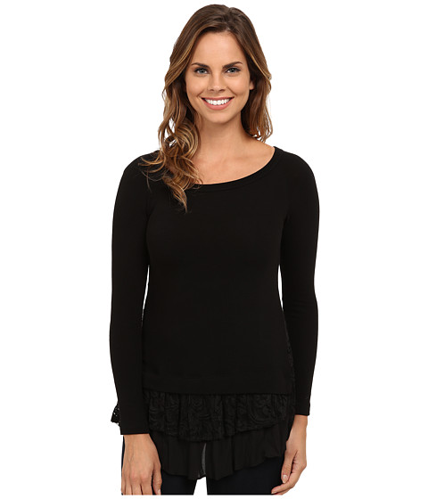 Karen Kane - Lace Inset Sweater (Black) Women