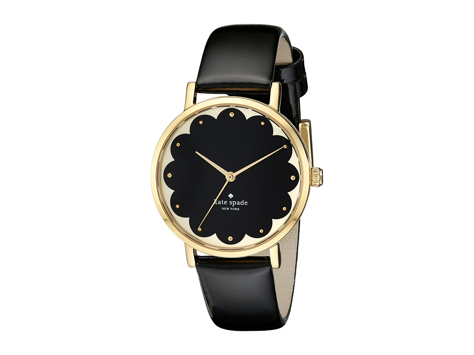 Kate Spade New York - Metro - 1YRU0227 (Black Scallop 1) Analog Watches