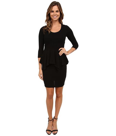 Karen Kane - Peplum Sweater Dress (Black) Women