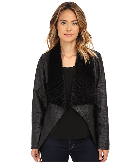 Karen Kane - Reversible Faux Fur Coat (Black) Women