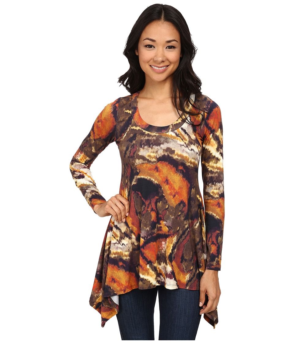 Karen Kane - Long Sleeve Handkerchief Top (Print 2) Women