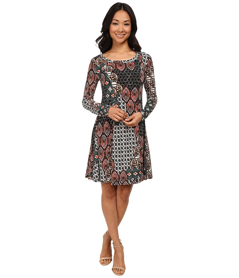 Karen Kane - Bohemian Mixed Print Dress (Print) Women