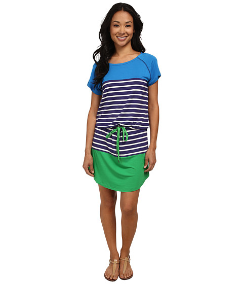 Hatley - Dropped Waist Dress (Royal Stripes) Women