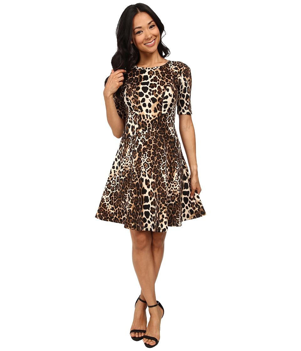 Karen Kane - Leopard Print Scuba Dress (Print) Women's Dress