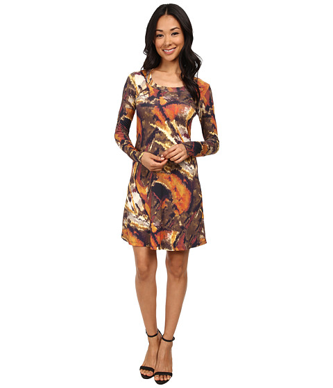 Karen Kane - Long Sleeve T-Shirt Dress (Print) Women