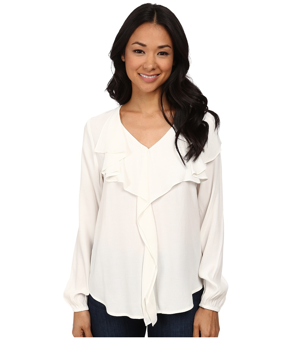 Karen Kane - Drape Front Blouse (Cream) Women's Blouse