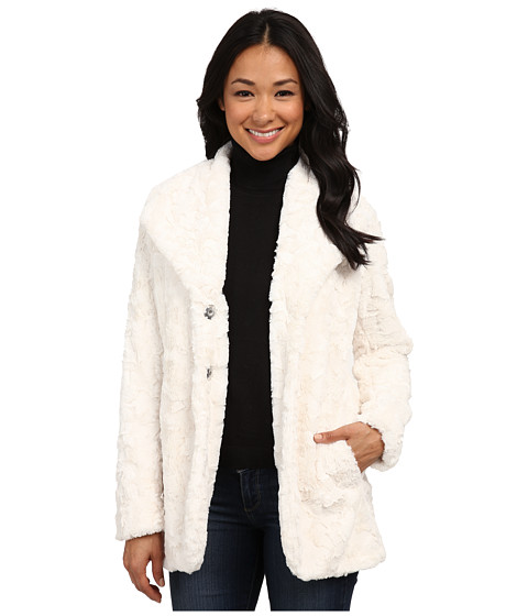 Karen Kane - Faux Fur Jacket (Cream) Women's Coat