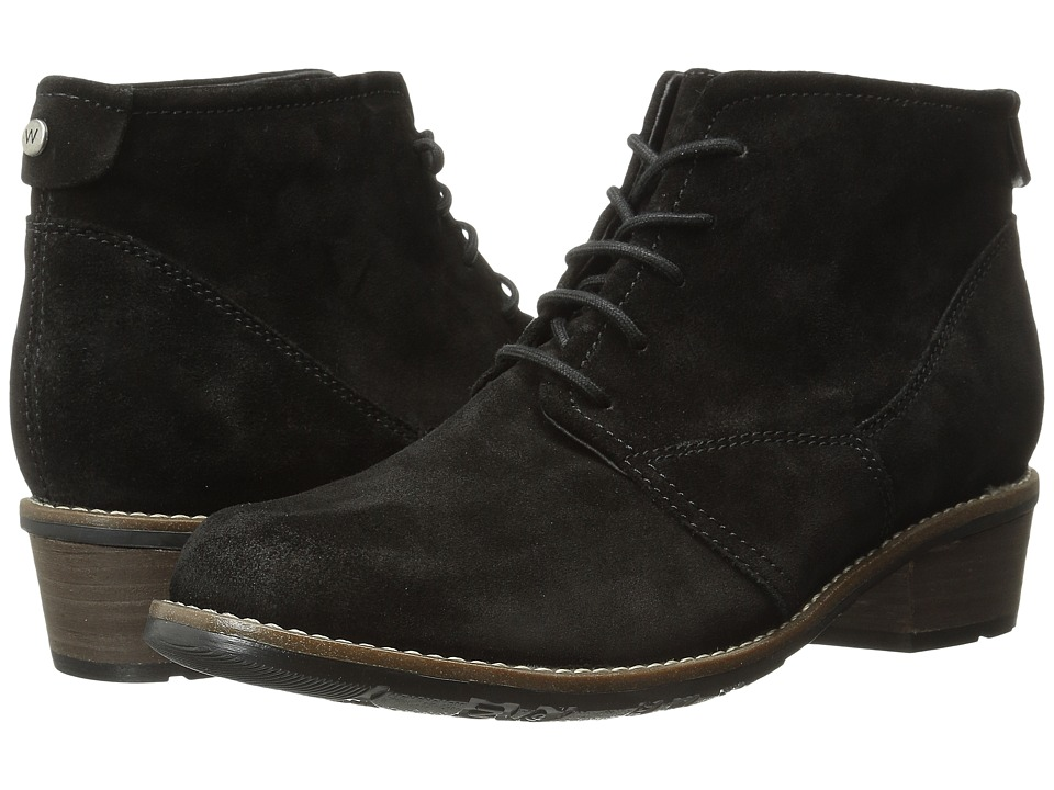 Wolky - Erne (Black Suede) Women's Lace-up Boots