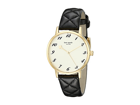 Kate Spade New York - Metro - 1YRU0788 (Black Quilted 1) Watches