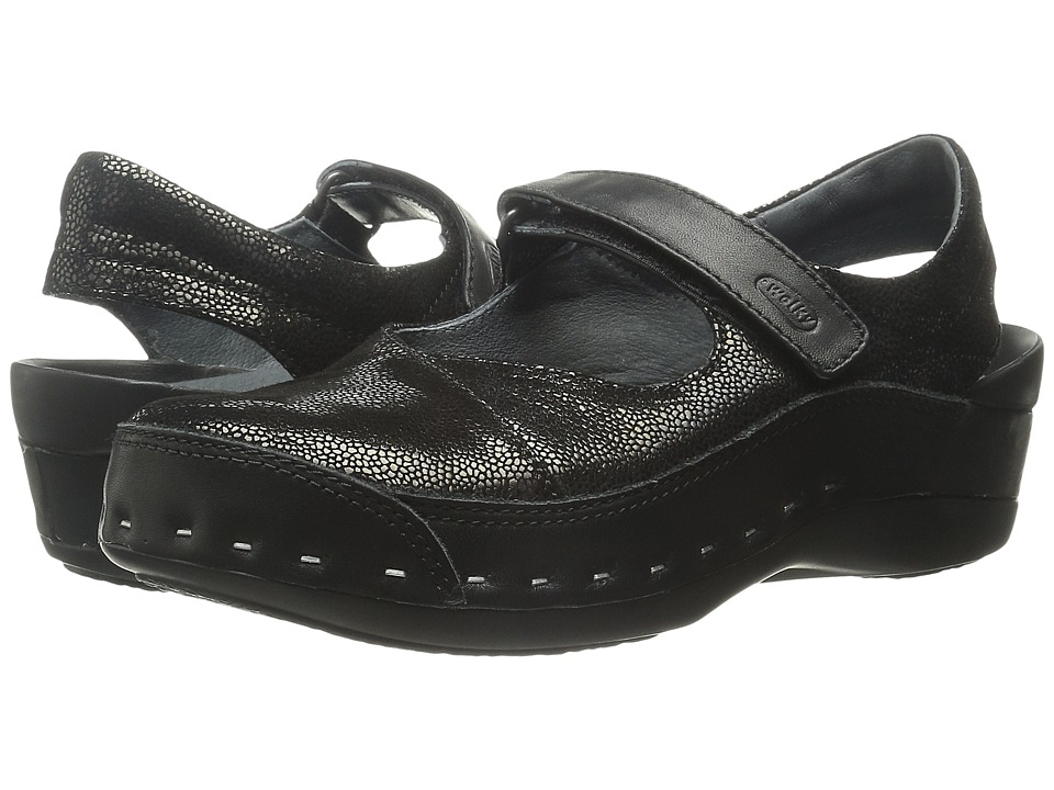 Wolky - Strap Cloggy (Black Caviar) Women's Clog Shoes