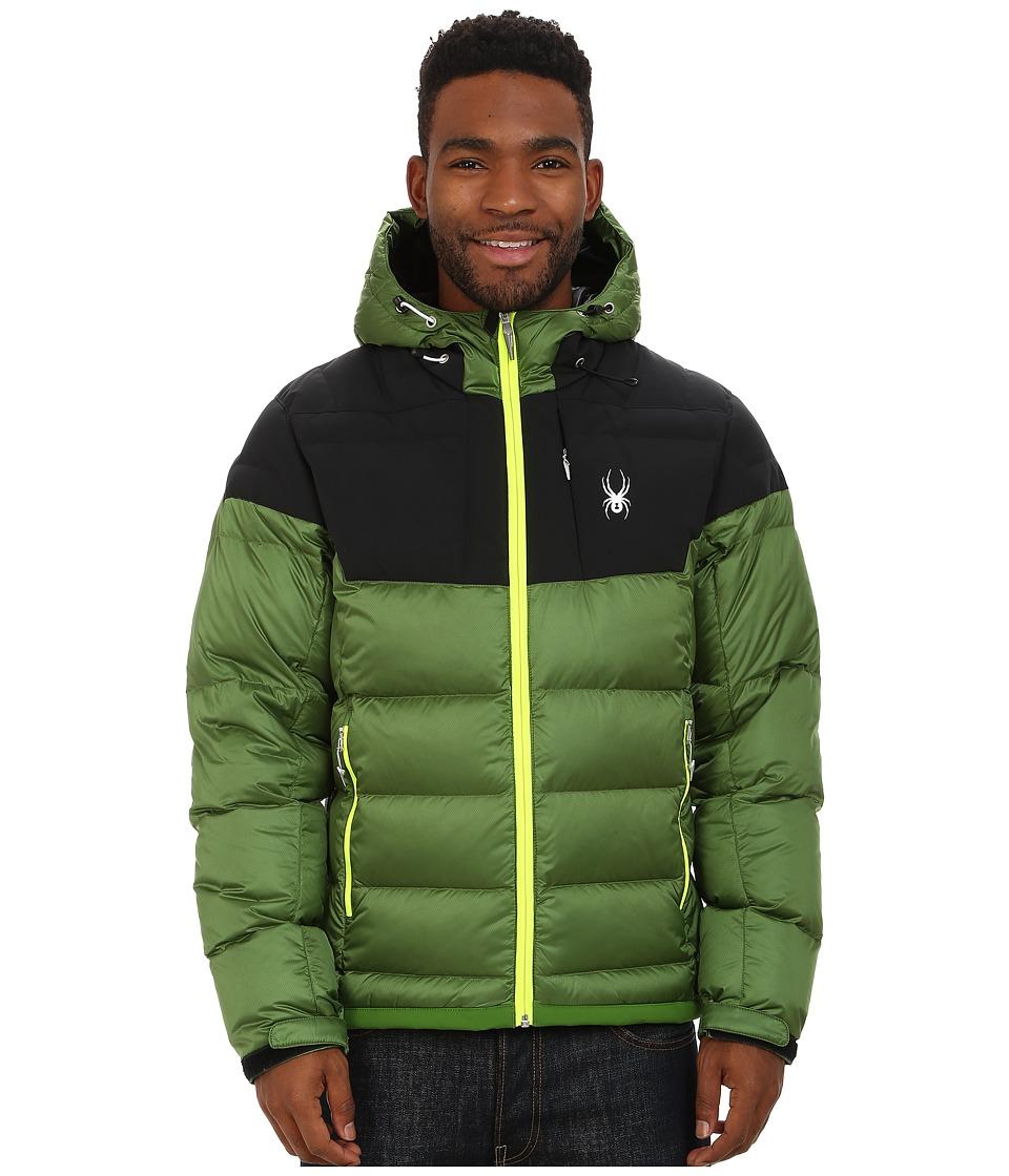Spyder - Bernese Down Jacket (Mountain Top/Black/Bryte Yellow) Men
