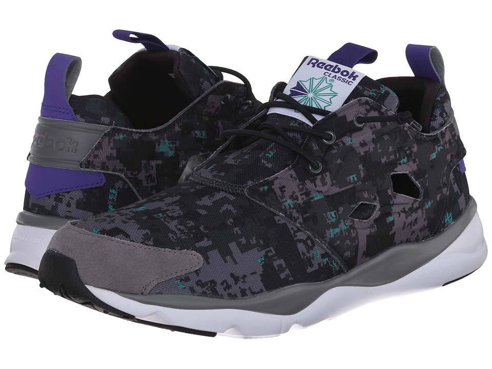 Reebok Lifestyle - Furylite SOC (Shark/Gravel/Black/Glass Green/White/Team Purple) Men's Shoes