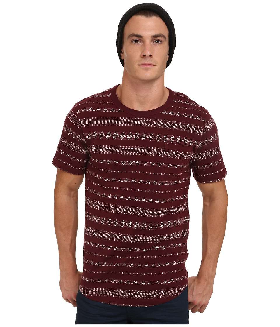 Obey - Mateo Tee (Burgundy) Men's T Shirt