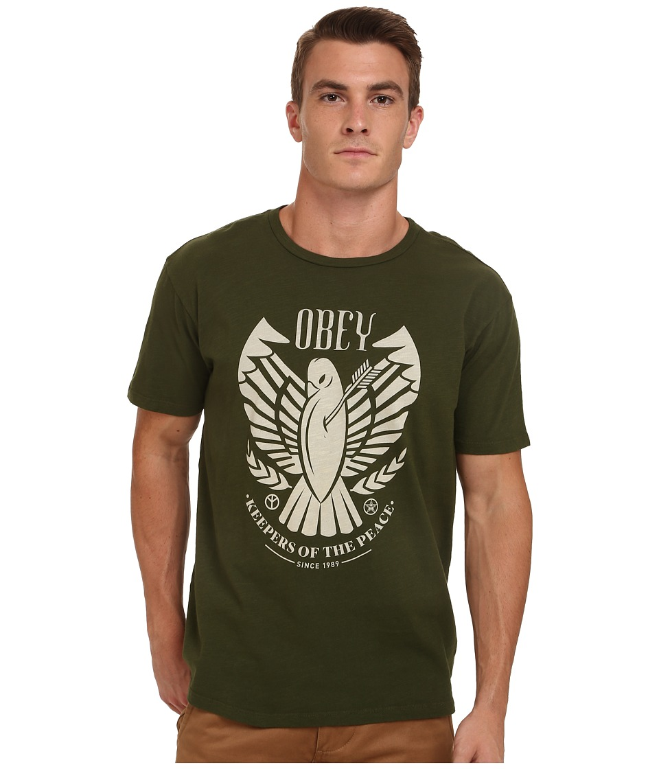 Obey - Keepers of the Peace Tee (Army) Men's T Shirt