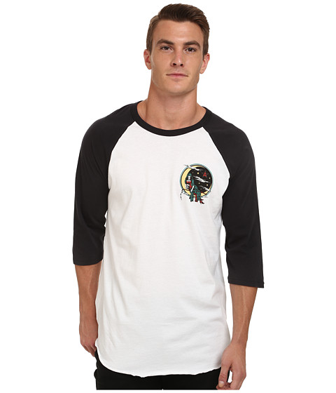 Obey - Angel of Death Raglan (White/Black) Men's T Shirt