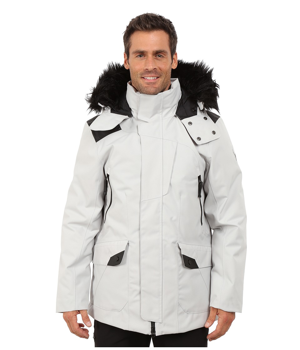 Spyder - Deck Parka Synthetic Down Jacket (Cirrus/Black) Men's Coat