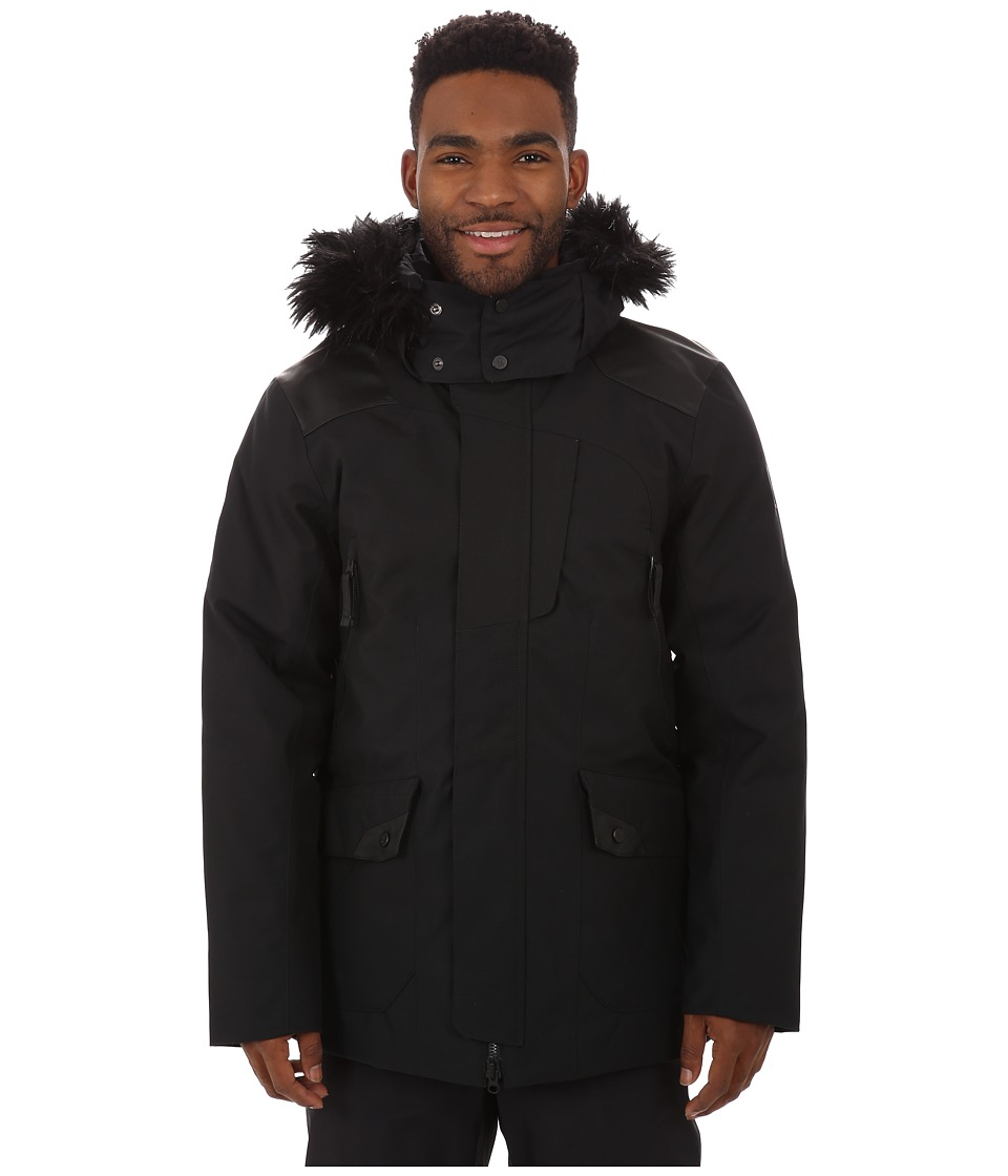 Spyder - Deck Parka Synthetic Down Jacket (Black/Black) Men's Coat