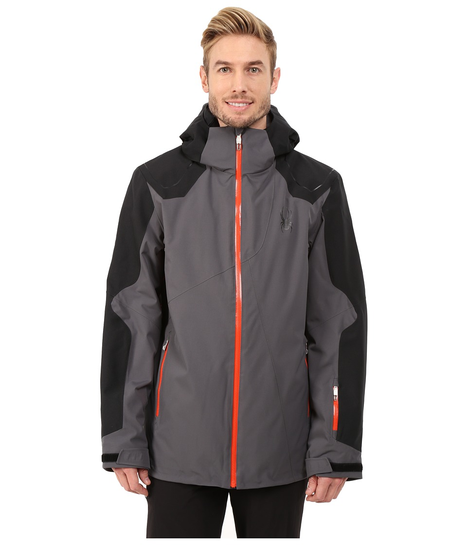 Spyder - Sensor Jacket (Polar/Black/Volcano) Men's Jacket