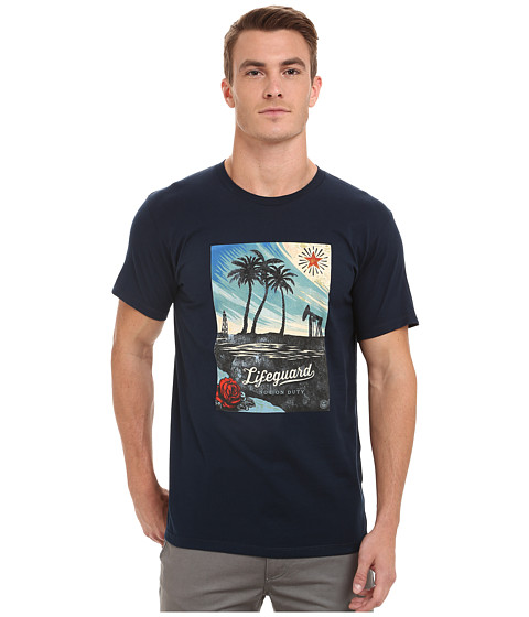 Obey - Lifeguard Not On Duty Tee (Navy) Men's T Shirt