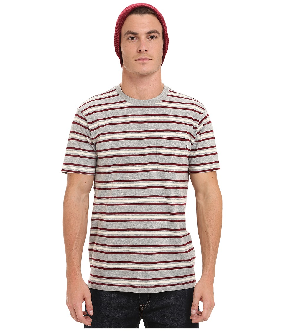 Obey - Embarco Tee (Burgundy Mullti) Men