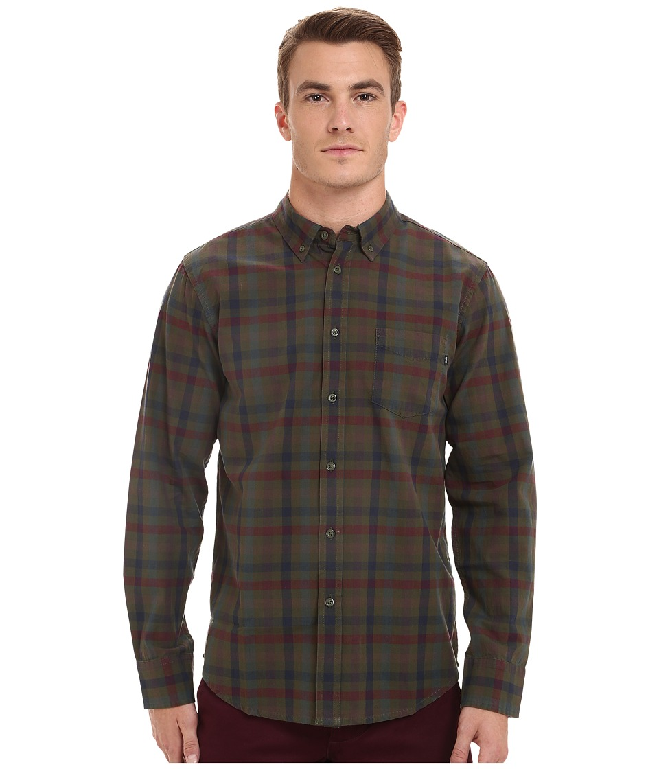 Obey - Jensen Long Sleeve Woven Top (Army Multi) Men's Clothing