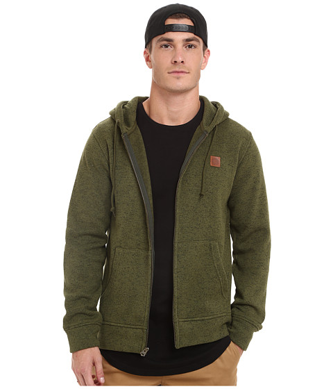 Obey - Conway Zip Hoodie (Army) Men's Sweatshirt