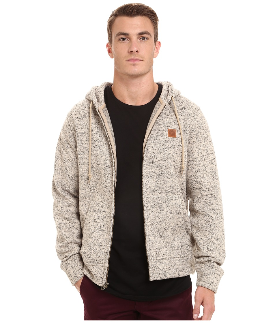 Obey - Conway Zip Hoodie (Heather Cream) Men's Sweatshirt