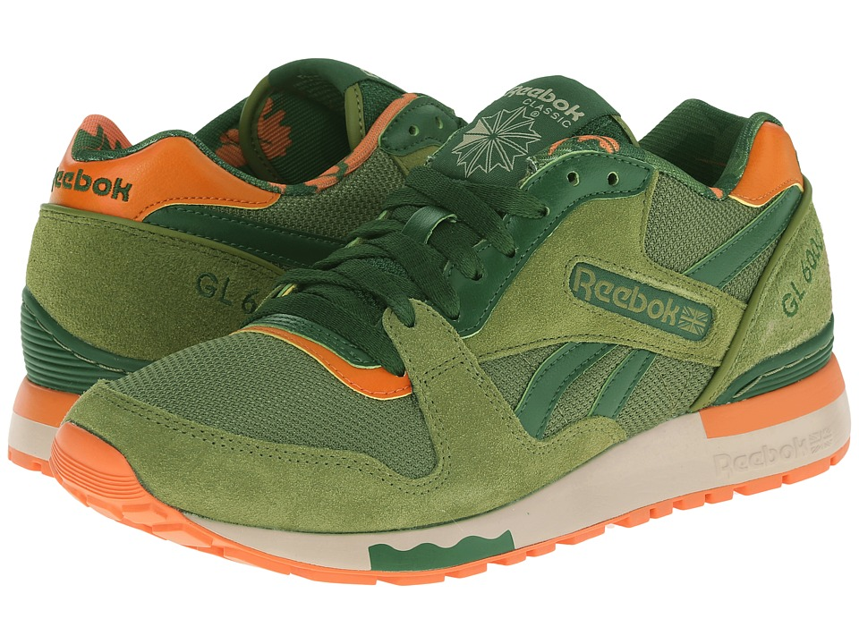 Reebok Lifestyle - GL 6000 ANE (Warm Olive/Scout Green/Jaffa Orange/Oatmeal/White) Men's Shoes