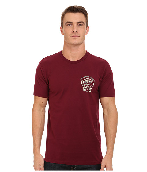 Obey - Injuria Tee (Burgundy) Men's T Shirt