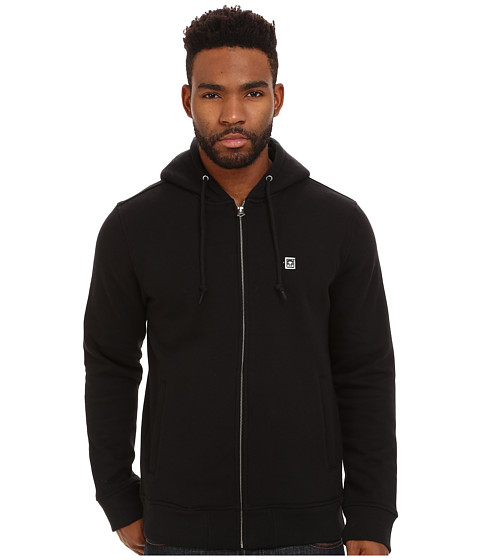 Obey - Eighty Nine Zip Hoodie (Black) Men's Sweatshirt