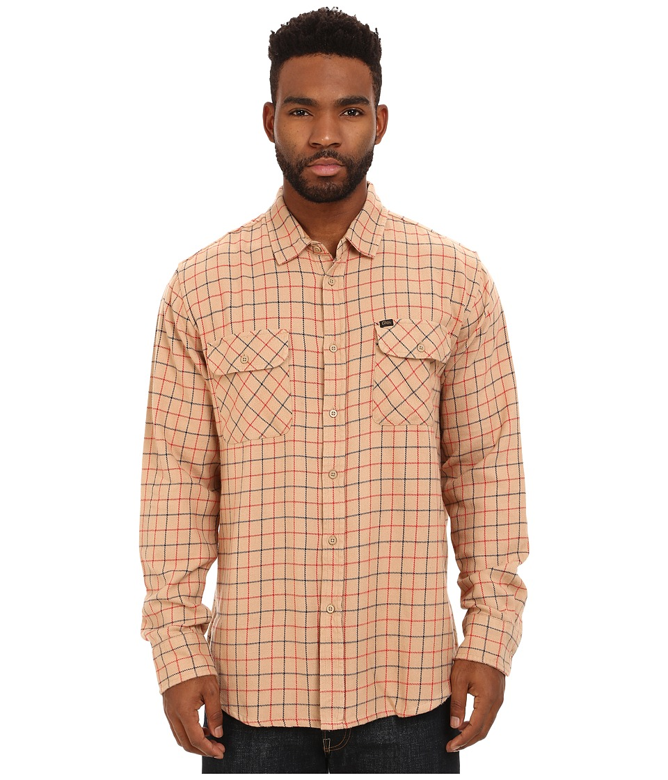 Obey - Vargas Long Sleeve Woven Top (Cream Multi) Men's Clothing