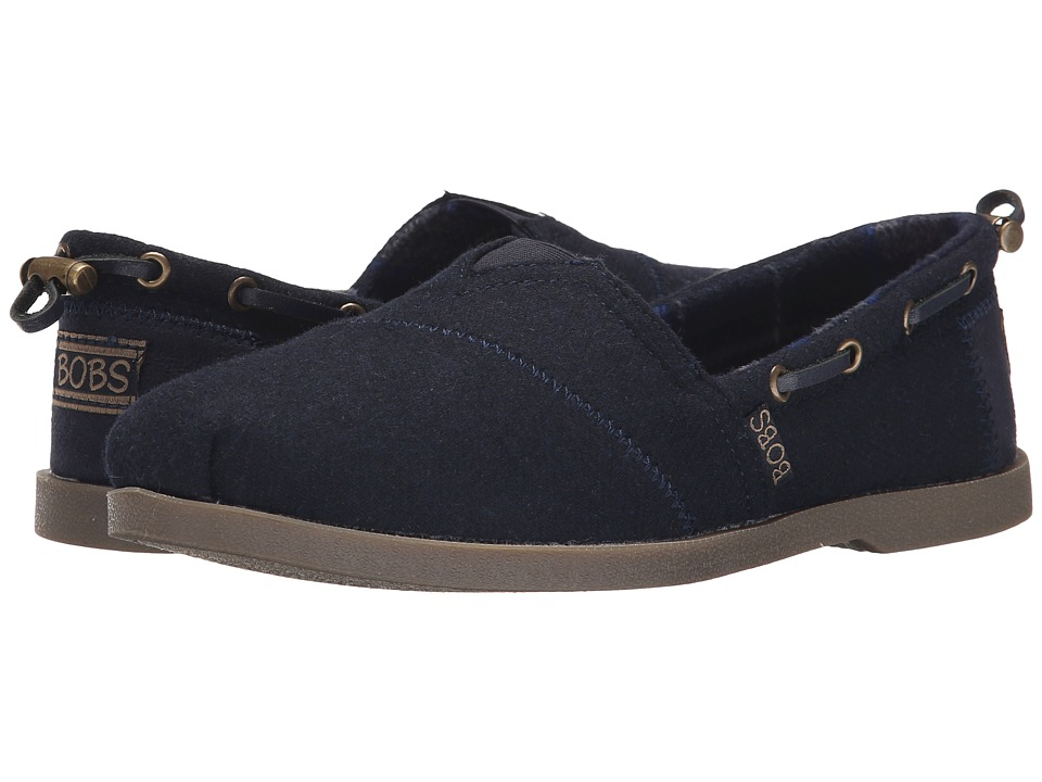 BOBS from SKECHERS - Chill Luxe (Navy) Women's Slip on Shoes