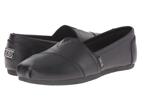 BOBS from SKECHERS - Luxe Bobs - About To (Black/Black) Women's Slip on Shoes
