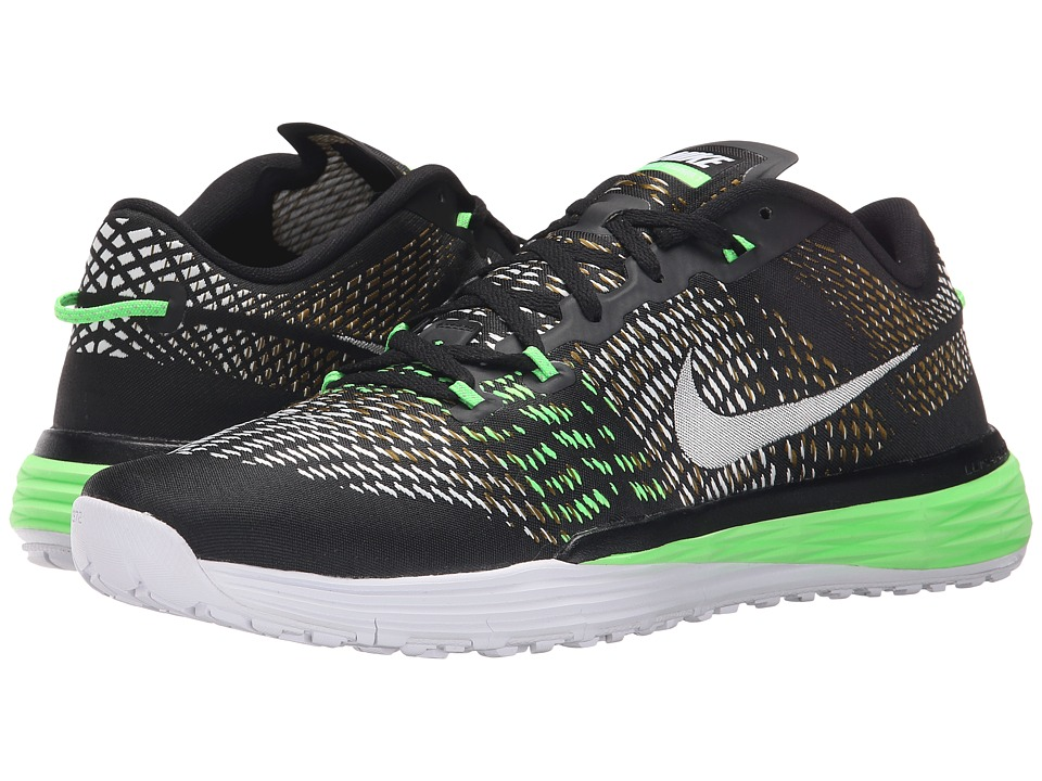 Nike - Lunar Caldra (Black/White/Military Green/Voltage Green) Men's Cross Training Shoes