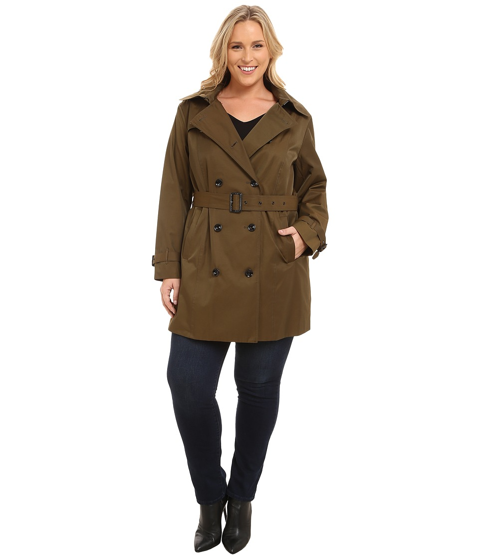 MICHAEL Michael Kors - Plus Size Double-Breasted Trench (Duffle) Women's Coat