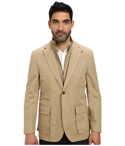 Kroon - Commodore Blazer with Removable Bib (Khaki) Men's Jacket