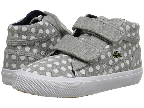 Lacoste Kids - Popstop PKD FA15 (Toddler/Little Kid) (Light Grey) Girl's Shoes