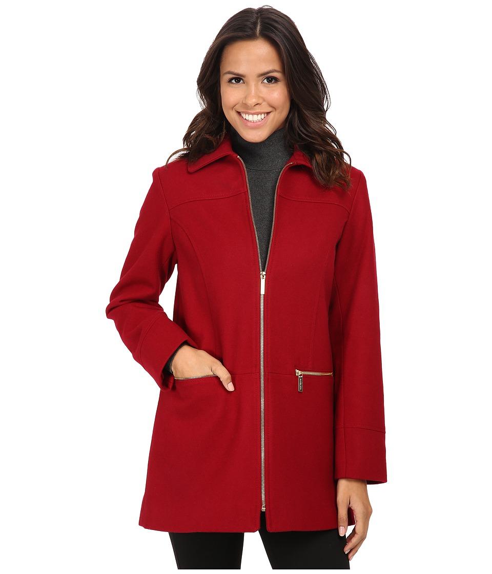 MICHAEL Michael Kors - Wool Zip w/ Gold Trim (Red) Women's Clothing