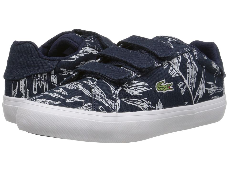 Lacoste Kids - Fairlead SPC FA15 (Little Kid) (Dark Blue) Boy's Shoes