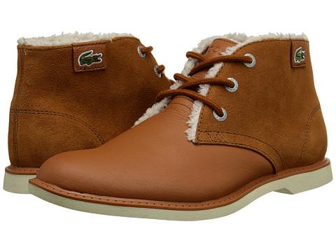 Lacoste Kids - Sherbrook-HI ELY FA15 (Little Kid/Big Kid) (Tan) Boy's Shoes