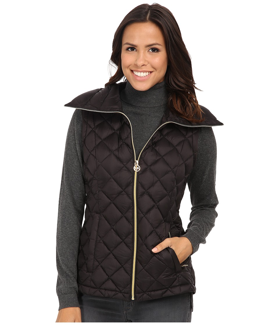 MICHAEL Michael Kors - Diamond Quilt Vest (Black) Women's Vest